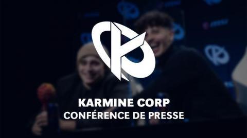 Karmine Corp - Conférence de presse